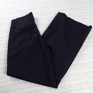 XCVI 6 Black Stretch Cotton Blend Wide Leg Pants